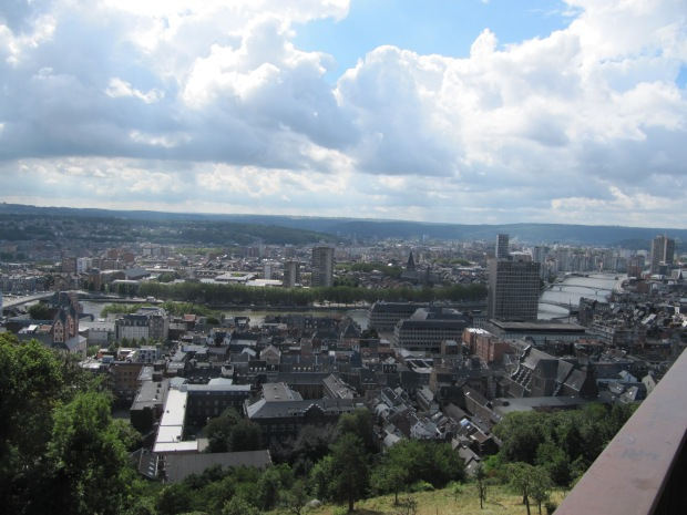 Vue de la ville, depuis le haut de la citadelle.