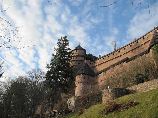 Le château depuis la route.