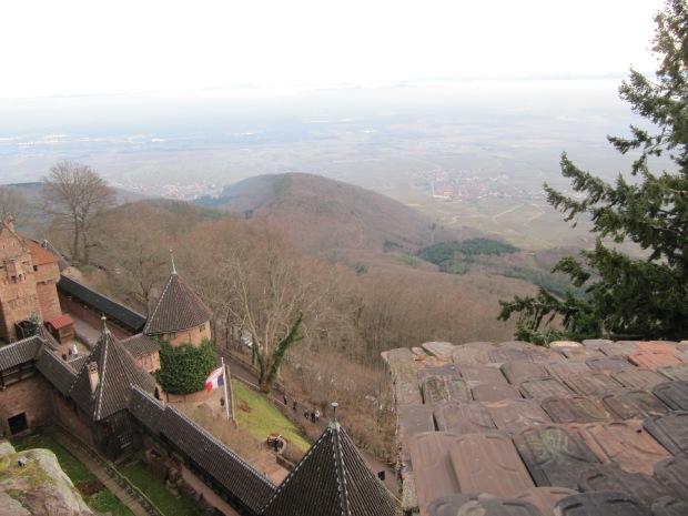 Vue depuis les parties hautes du château