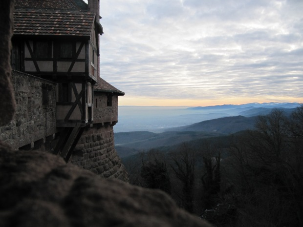 La plaine d'Alsace à perte de vue...