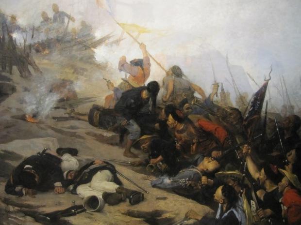 """""""Episode du siège de Tuyen-Gang"""" en 1885 par Charlemagne. Cette célèbre bataille est évoquée dans le plus connu des chants de la Légion, """"Le boudin"""". http://www.youtube.com/watch?v=R7kycuqnZi4"""