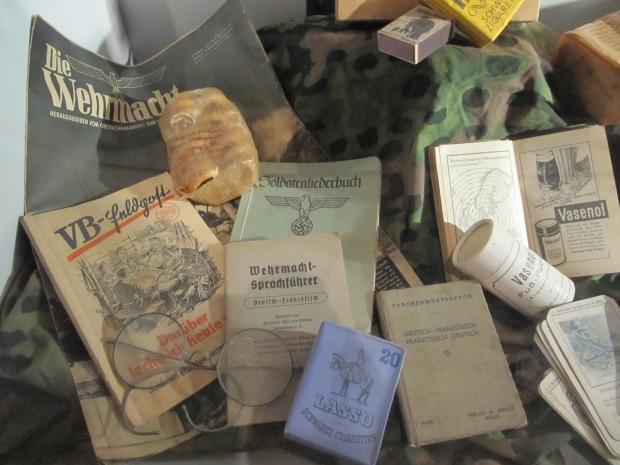 Objets personnels du soldat  allemand.