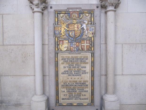 Bonus, plaque commémorative dans la cathédrale.