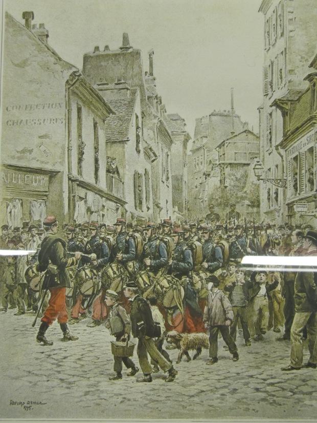 Quelques planches d'Edouard Detaille sur la musique militaire française, qui utilise beaucoup les instruments de Sax.
