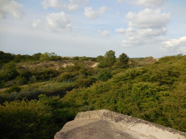 La dune, depuis le fort.
