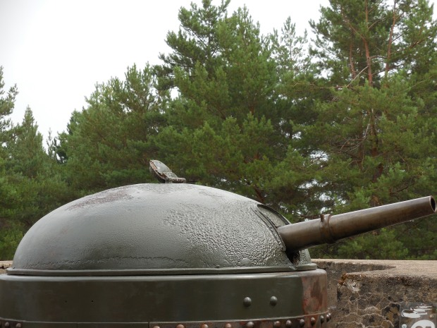 L'une des impressionnantes tourelles du fort.