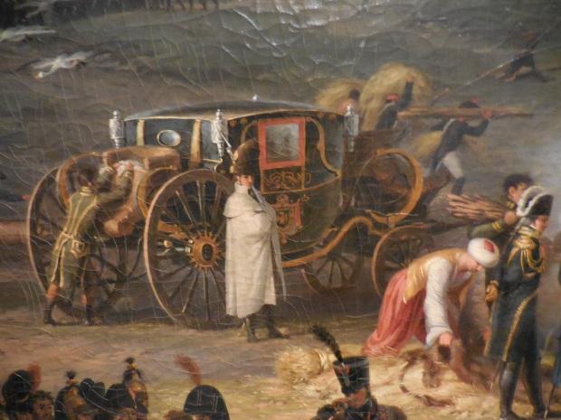 Détail, la berline de Napoléon. On aperçoit le turban d'un célèbre mamelouk.