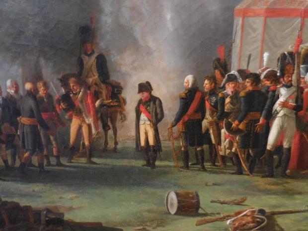 Détail, Napoléon et ses officiers.