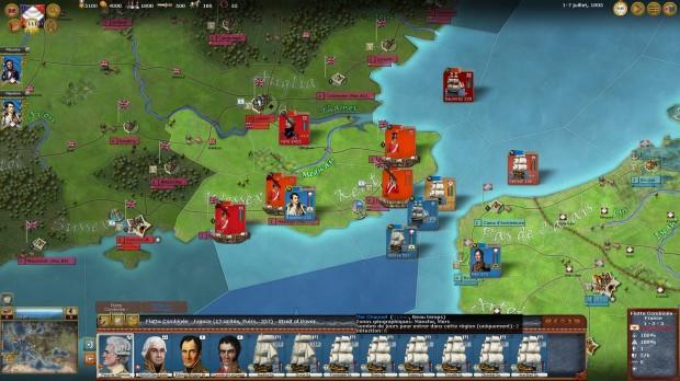 Scénario uchronique ou Napoléon débarque en Angleterre.